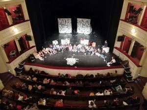Mlado gledališče 2019, pogovor po predstavi Pravica biti človek, foto: arhiv SLOGI