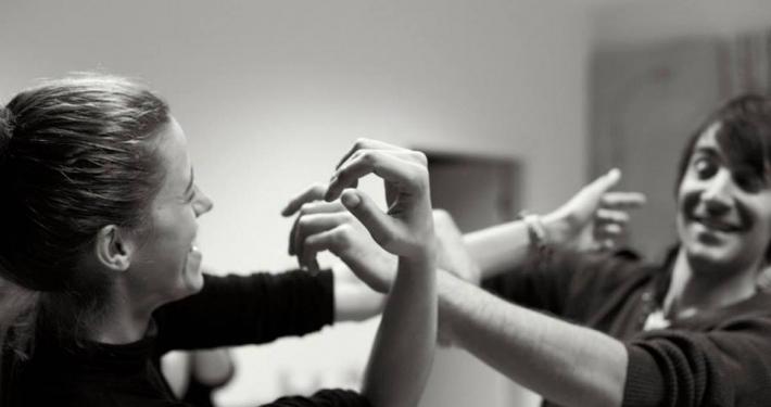 Gledališče dialoga kot metoda pri delu z mladimi. Foto: Janez Klenovšek.